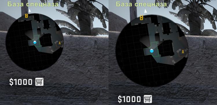 Изменения размера радара