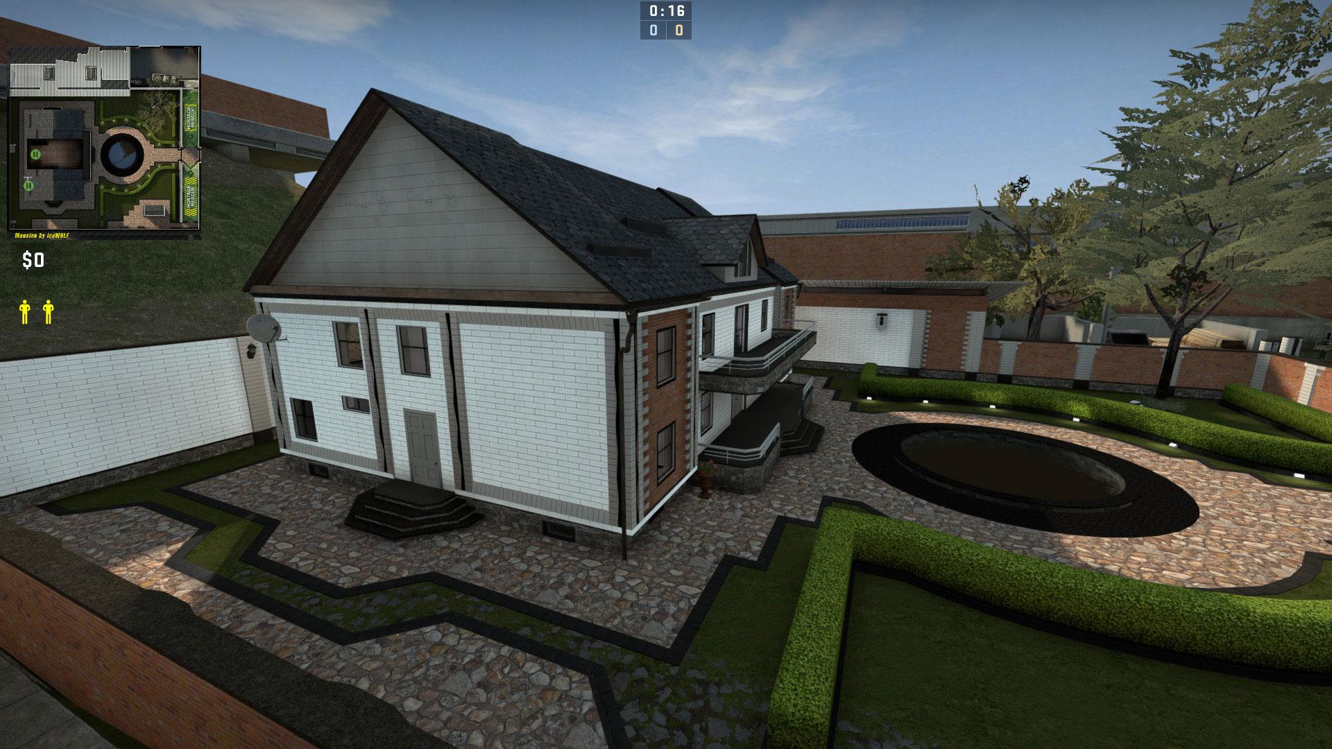 Скачать карту Mansion для CS GO