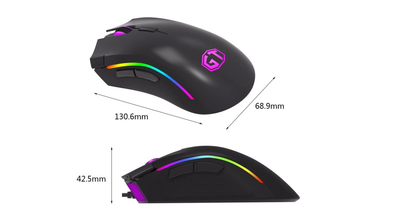 Вид лучшей игровой мышки для CS:GO с AliExpress