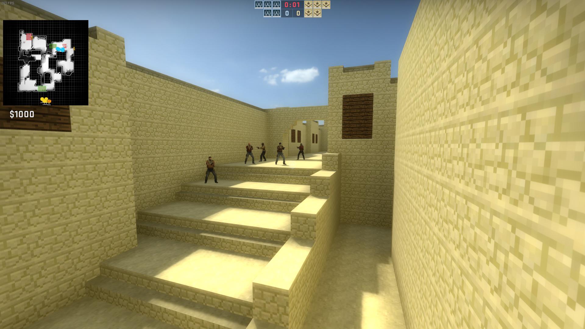 Dust 2 Minecraft