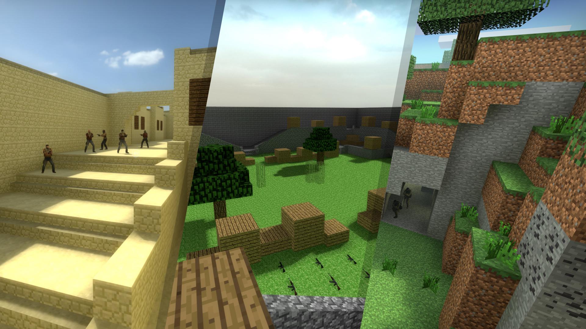 Карты в CS:GO в стиле игры MineCraft