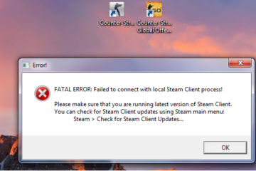 Как исправить ошибку в CS GO fatal error failed to connect with local steam client process