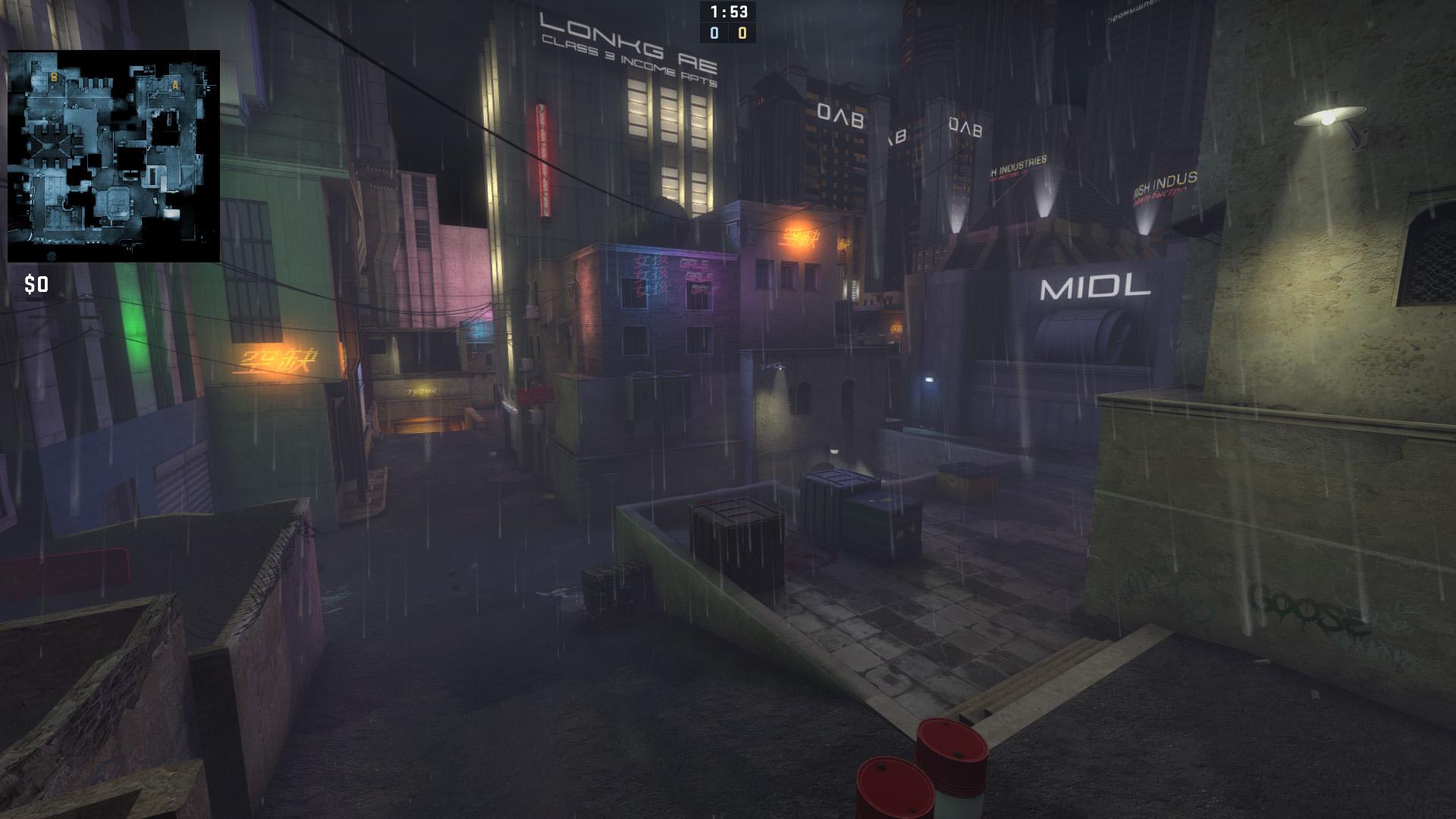 Скачать Dust 2 в стиле Cyberpunk CS:GO бесплатно