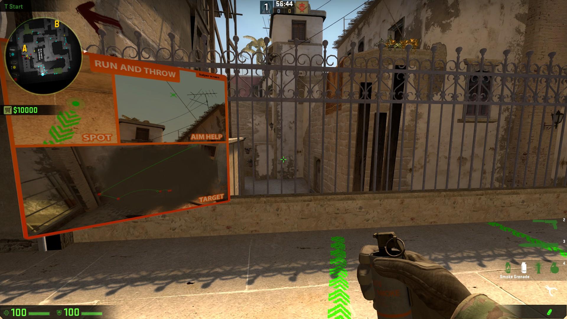 Скачать карту для тренировки Миража в CS:GO