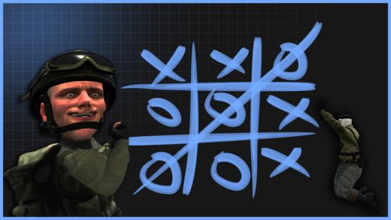 Скачать карту Tic-tac-toe (Крестики-нолики) для CS:GO