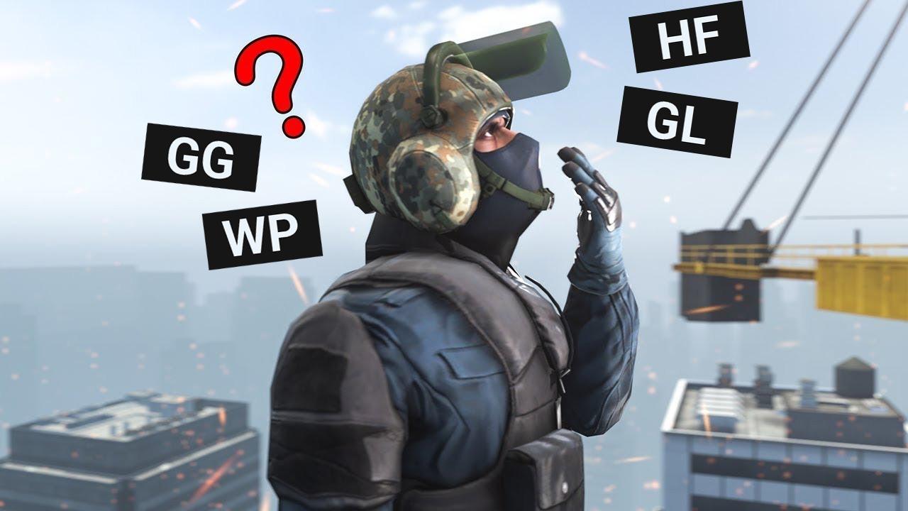 Что значит GG, WP, GL, HF и другие сокращения? Расшифровка для игры в CS:GO