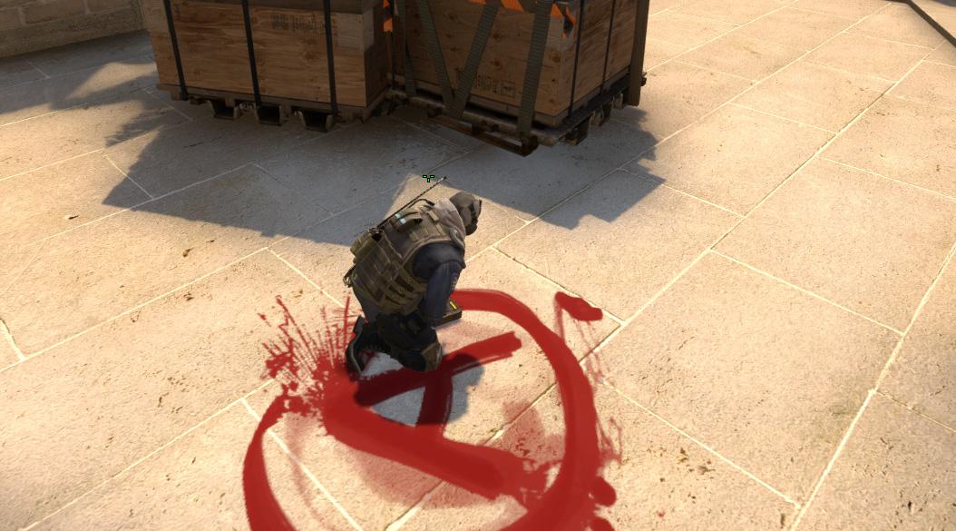 Как ставить бомбу играя за контр-террористов CS:GO