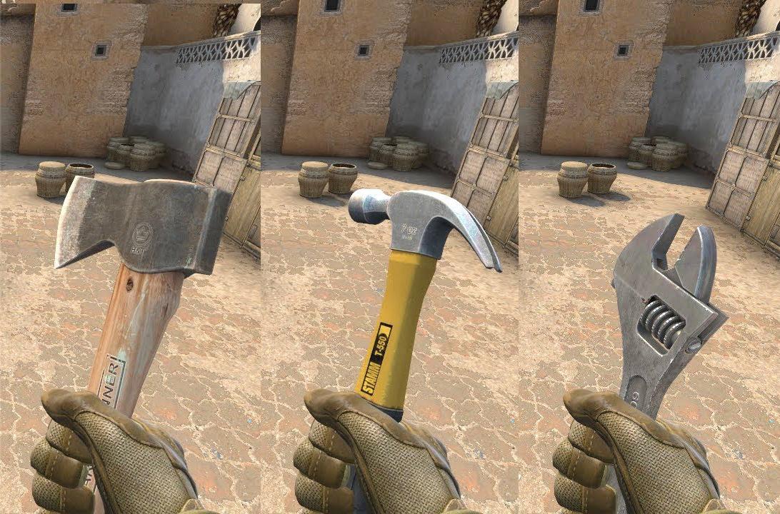 Как выдать топор, молоток, гаечный ключ в игре CS:GO